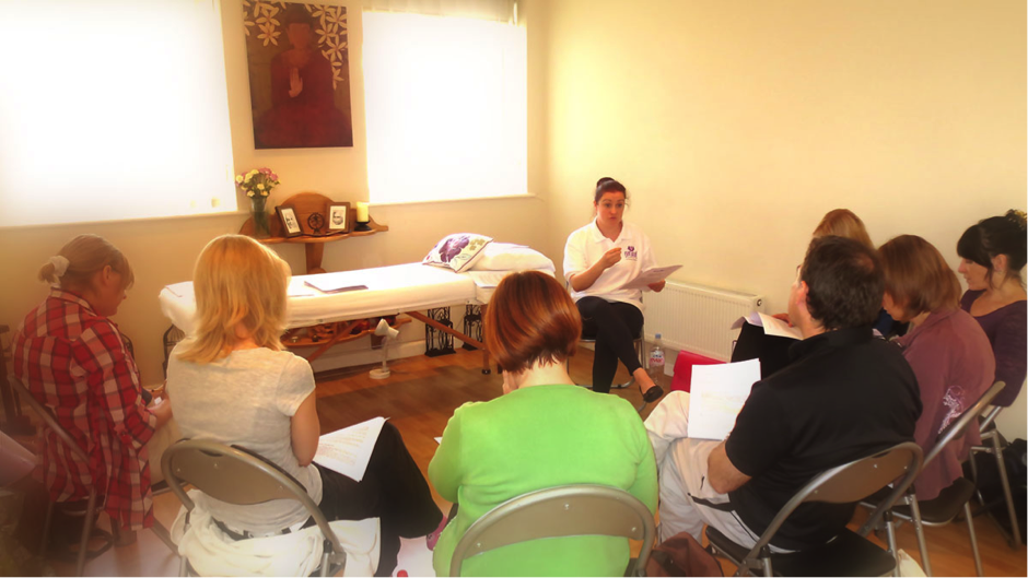 Martine Niven Teaching 5 Element Course Natural Elements Acupuncture Clinic Bournemouth